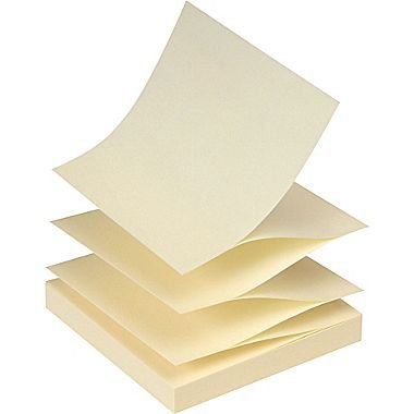 Staples Stickies 3 x 3 Recycled Yellow Pop-Up Notes, 12/Pack