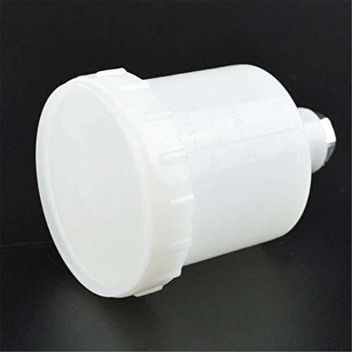 Vaso de pintura en aerosol de pl/ástico Vaso de pulverizador Alimentador de gravedad por aire Olla de pintura Conector de rosca Fastmover para piezas de pistola de pulverizaci/ón-Blanco