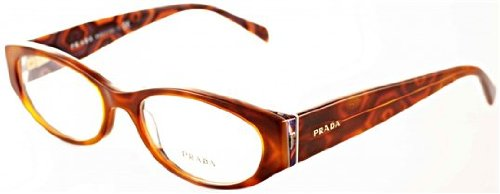 Prada Pr03pv Eyeglasses Mau1o1 Top Havana/hexagon Demo Lens 51 17 - Hexagon Frames Eyeglass