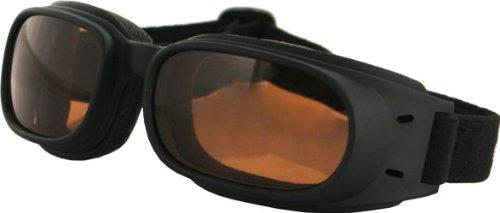 Zan Headgear Piston Goggles , Distinct Name: Amber, Gender: Mens/Unisex, Primary Color: Black BPIS01A