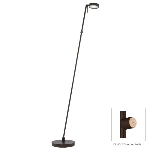 - George Kovacs P4304-647, George's Reading Room, 1 Light LED Pharmacy Floor Lamp, Copper Bronze Patina Finish