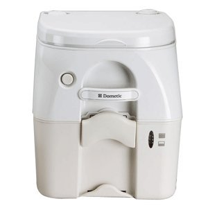 Dometic 975 Portable Toilet 5.0 Gal Tan W/ Brackets