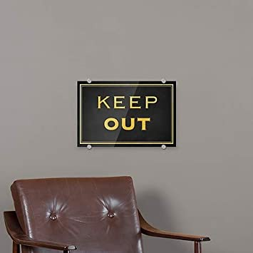 Keep Out CGSignLab 27x18 Classic Gold Premium Acrylic Sign