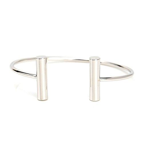 United Elegance Stylish Designer Bangle Bracelet with Contemporary T-Bar Design -