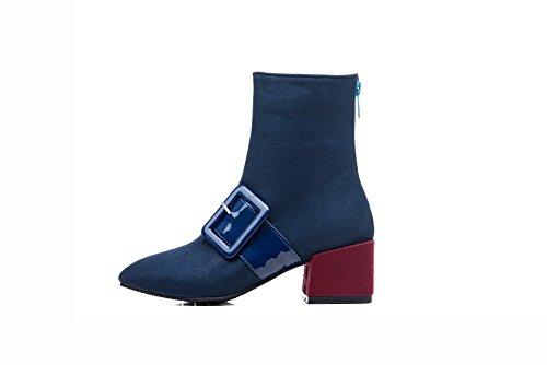 Sconosciuto 1TO9Mns02498 - A Collo Alto Donna, Blu (Blue), 35