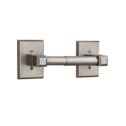 AIW TPT61N-DN Square Rosette Series Toilet Paper Holder - Bathroom Hardware In Distressed Nickel, Distressed Nickel Paper Holder