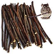 (YILMEN Apple Sticks Pet Chew Toys for Chinchilla Guinea Pigs Rabbits Hamster Squirrel)