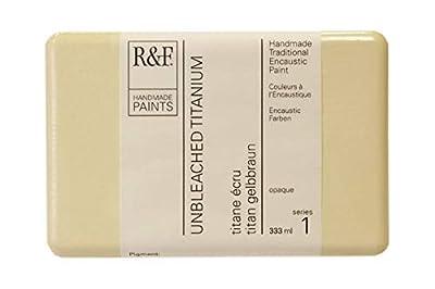 R&F Handmade Paints 121H encaustic Paint Cake, 333ml, Unbleached Titanium