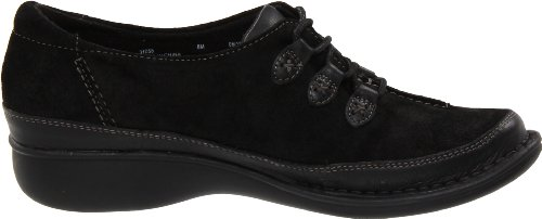 Clarks Womens Tona Summit Oxford Black Suede whYAUduemB