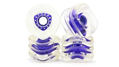 Shark Wheel 72mm DNA Formula Longboard Wheels (Clear Purple Hub)
