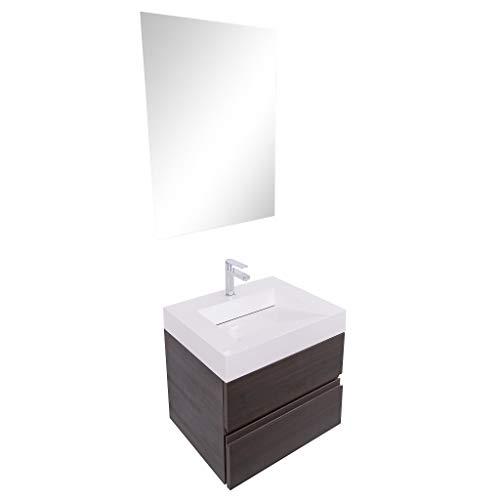 Aquamoon Contessa Modern Bathroom Vanity - 2 in 1 Sink & Vanity -