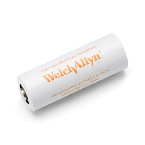 Welch Allyn 72300 Nickel-Cadmium Rechargeable Battery for 71000-A/71000-C/23300 Power Handles, Orange Lettering, 3.5V ()
