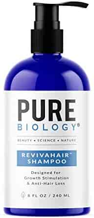 Premium Hair Growth Shampoo with Biotin, Keratin, Vitamins B + E, Natural DHT Blockers & Breakthrough Anti Hair Loss Complex Treatment of Thinning, Damaged Hair for Men & Women