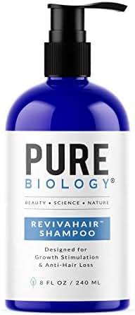 Premium Hair Growth Shampoo with Biotin, Keratin, Vitamins B + E, Natural DHT Blockers & Breakthrough Anti Hair Loss Complex Treatment of Thinning, Damaged Hair for Men & Women
