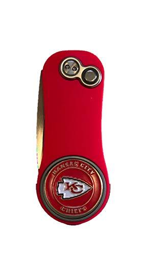 Pitchfix Kansas City Chiefs RED Fusion Divot Tool W/Golf Ball Marker