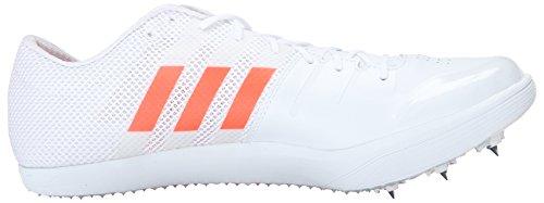 Adidas Unisex Performance Adizero Lj Track Shoe Bianco / Rosso Solare / Argento Metallizzato