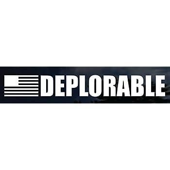 Deplorable car decal american anti hillary trump 2016 funny hq bumper sticker