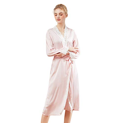 - XUEJIN Sleepwear Women Short Sleeve Nightgown V Neck Night Shirt Soft Sleep Dress with Splicing Belt