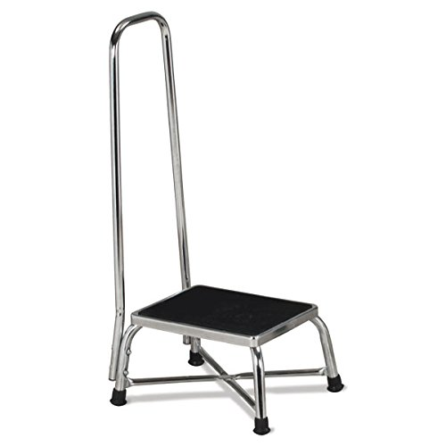 Heavy Duty Footstool - Bariatric Step Stool with Handrail 11.25