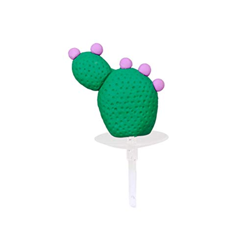 - Amosfun Cake Topper Pottery Purple Flower Cactus Shaped Succulent Cake Insert Cupcake Topper for Hawaiian Party Birthday Supplies