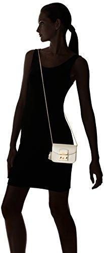 Furla Metropolis Mini Crossbody - Shoppers y bolsos de hombro Mujer Blanco (Petalo)