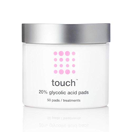 20% Glycolic Acid Pads Exfoliating AHA Peel Wipes – Anti-Aging & Resurfacing Treatment – Best For: Dullness, Pores, Acne Scars, Fine Wrinkles, Uneven Skin Tone & Texture, Hyperpigmentation, 50 Cou