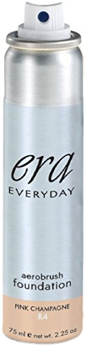 ERA Everyday Aerobrush Foundation Makeup, R4 Pink Champagne, 2.25 ()