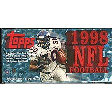 (1998 Topps Football Series Factory Sealed Set Which Includes Rookie Cards of Peyton Manning and Randy Moss Plus Stars Including Jerry Rice, Brett Favre, John Elway, Dan Marino, Troy Aikman, Barry Sanders, Joe Montana and Many Others.)
