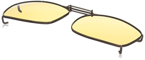 Cocoons Polarized Clip-on Rectangle 7 L4169A Rectangular Sunglasses, Bronze, 50 - Fit Over Sunglasses Cocoons