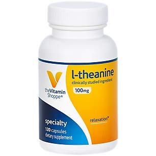 The Vitamin Shoppe LTheanine 100MG, Clinically Studied Ingredient, Supports Relaxation Stress (120 Capsules)