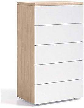 13Casa Col: Bianco Cassettiera Dim: 60x38x109 h cm Mat: Melamina. Wenge Winter C8