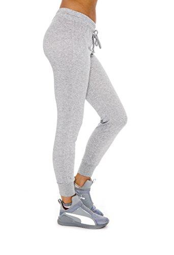 Unique Styles Ladies Drawstring Waist Versatile Slim Cut Legs Jogger Sweatpants - Assorted Colors, Grey Large