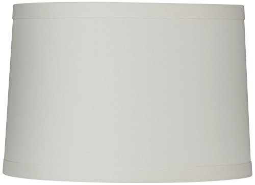 White Linen Drum Lamp Shade 15X16X11