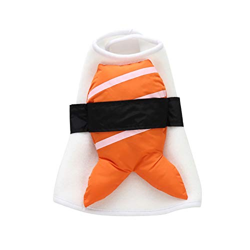 GSPet Funny Salmon Sushi Pet Clothes Warm Wrap Dog Cat Halloween Christmas Costume - L -