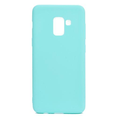 Funda para Samsung Galaxy A8 Plus 2018 (SM-A730) , IJIA Puro Rojo TPU Silicona Suave Cover Tapa Caso Parachoques Carcasa Cubierta Case para Samsung Galaxy A8 Plus 2018 (6.0) Green
