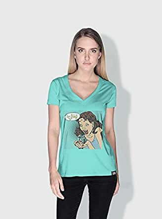 Creo Tiffany 3Araby T-Shirts For Women - M, Green