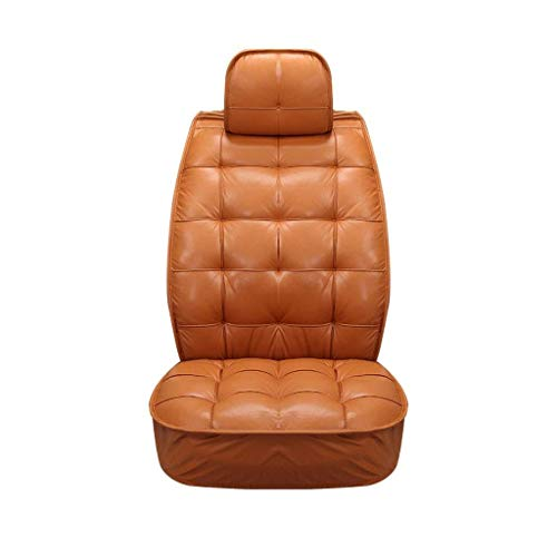TD Car Seat Cover Warm Car Seat High-Grade PU Car Seat Cover Universal Model Car Seat Covers (Color : Orange) Comfortable (Color : Orange)