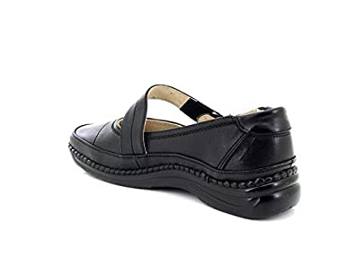 3a2513d6535 Ladies Black Extra Wide Touch Fastening Bar Shoe - Black - size UK Ladies  Size 3  Amazon.co.uk  Shoes   Bags