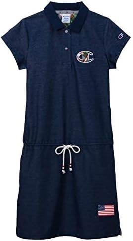 [nissen(ニッセン)] シャツ スポーツウェア・フィットネスウェア チャンピオンゴルフ 衿配色ワンピース