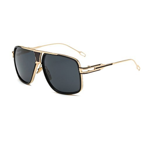 LIKEOY Fashion Classic Aviator Sunglasses For Men,Gold Metal Frame with REVO Lens A2 (Bans Ray Australia Baby)