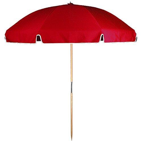 7.5 ft. Avalon Collection Fiberglass Commercial Grade Beach Umbrella Wood Pole & Acrylic Fabric