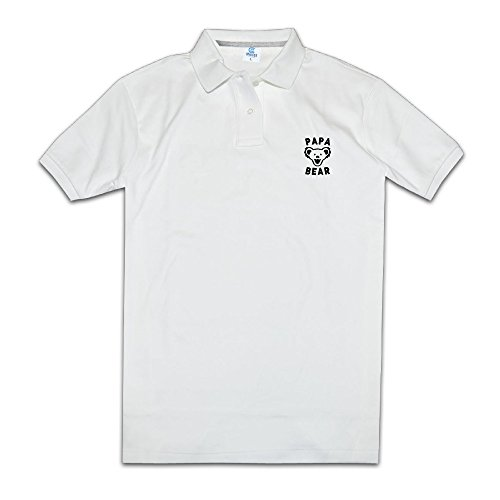 Updated Papa Bear Best Dad Ever Mascot Happy Men Polo Shirts Polo Style