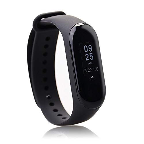 Xiaomi Mi Band 3 Fitness Tracker 0.78 OLED Display Heart Rate Monitor 50 Meters Waterproof Bracelet Pedometer Bluetooth 4.2 Activity Tracker Weather Forecast Smart Reminder for iPhone, Android Phones