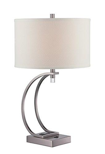 "Lite Source LS-22525G Fico Table Lamp, 18.5"" x 16"" x 28"", Gun Metal"
