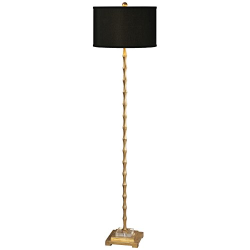 Uttermost 28598-1 Quindici Metal Bamboo Floor Lamp, Gold ()