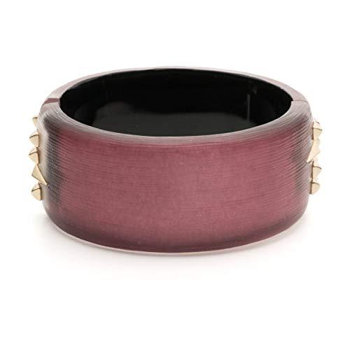 Alexis Bittar Women's Golden Studded Thick Hinge Bracelet