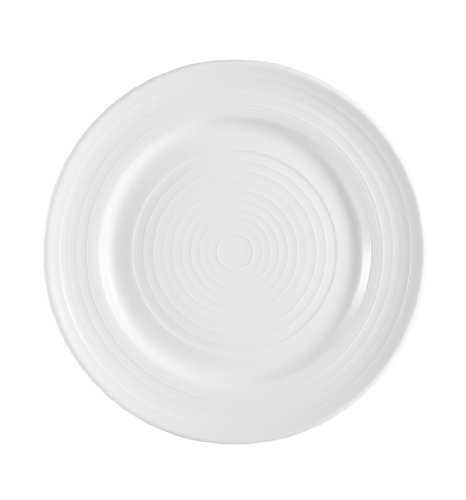 CAC China TGO-16 Tango Bone White Porcelain Plate, 10-1/2-Inch, Box of 12