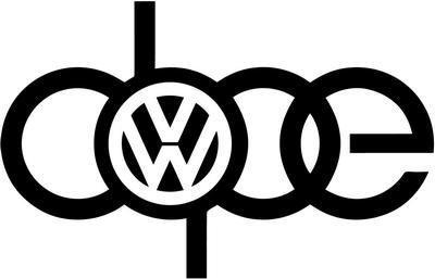 Amazoncom VW VOLKSWAGEN AUDI A DOPE SIGN VINYL STICKER DECAL GTI - Audi volkswagen