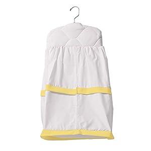Baby Doll Medallion Crib Diaper Stacker, Yellow
