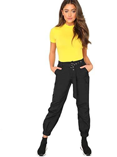 6f2b6e6b69e WDIRARA Women's Fashion Checkered Short Sleeve Mock Neck Plaid Skinny  Bodysuit